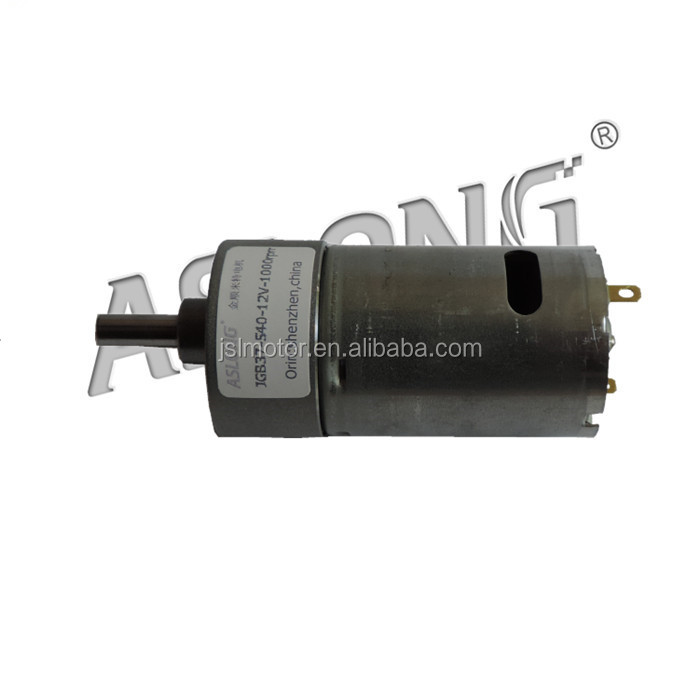 Aslong 12 1600rpm High Torque Jgb37 540 Dc Right Angle Gear Motor Electric Motor With Reduction