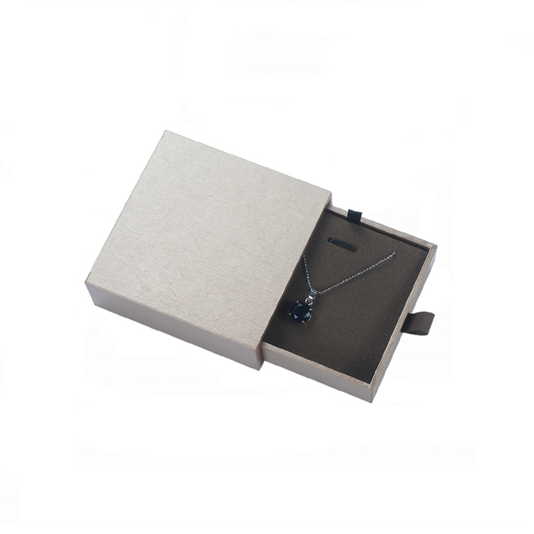 cardboard paper luxury black small sliding jewellery drawer boxes jewelry packaging box with logo