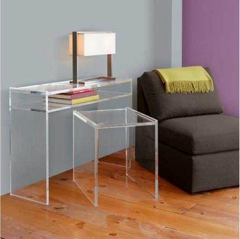 Minimalist Clear Acrylic Computer Desk Customize Available