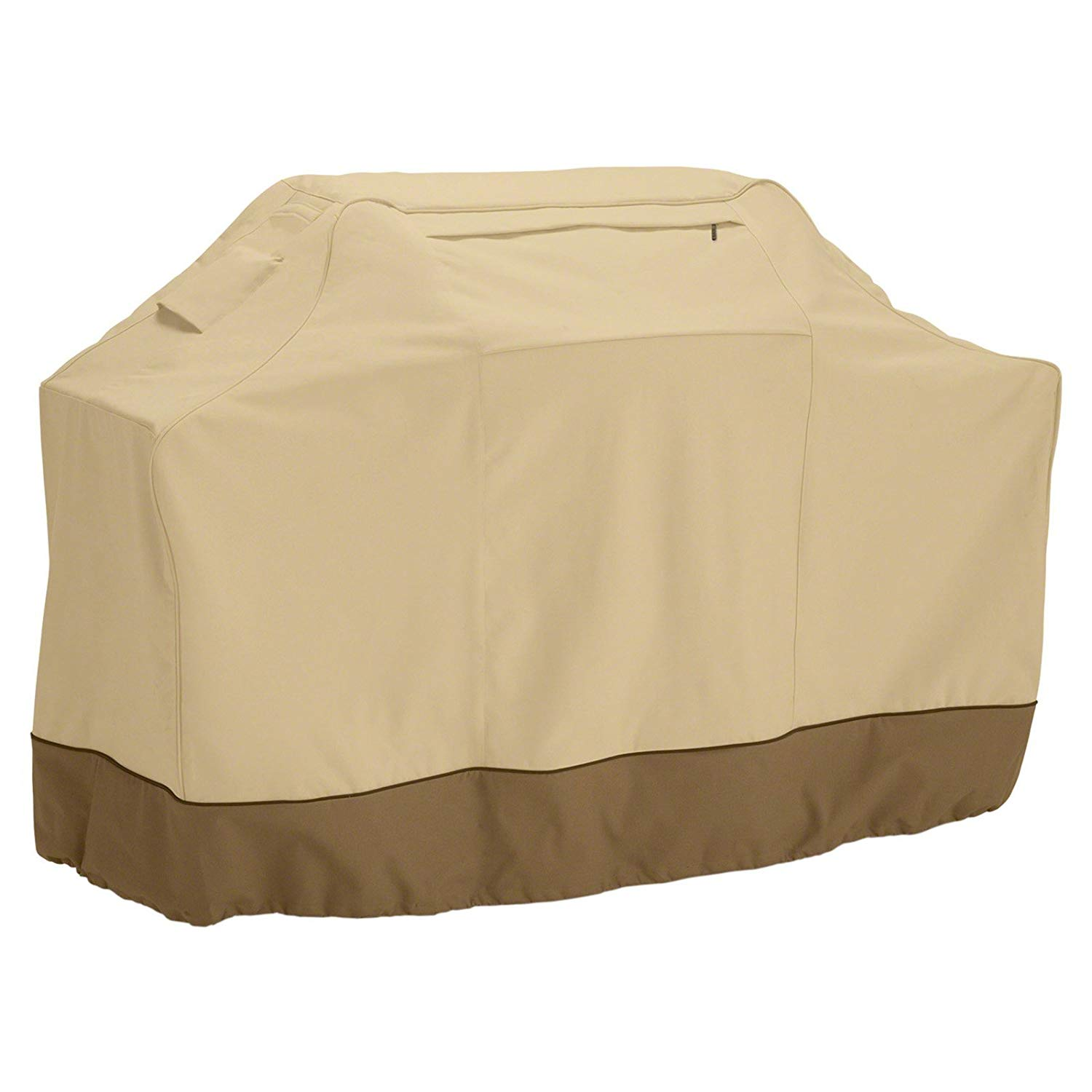 N&T 1 Piece Beige Outdoor Camping Grill Cover 70 Inch, Water Resistant Bbq Cover Waterproof Medium Durable Patio Barbecue Cover Heavy Duty Material Weather Resistant Air Vents Reduce, Polyester