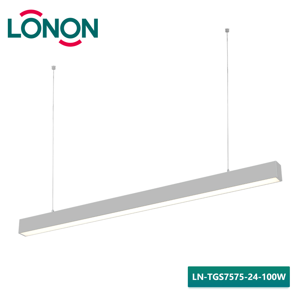 100W Ra80 CE IP20 modem industrial hanging pendant linear cord set light lamp