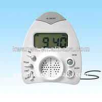 cheap desk clock radio clock with daily alarm function, good item for promotion