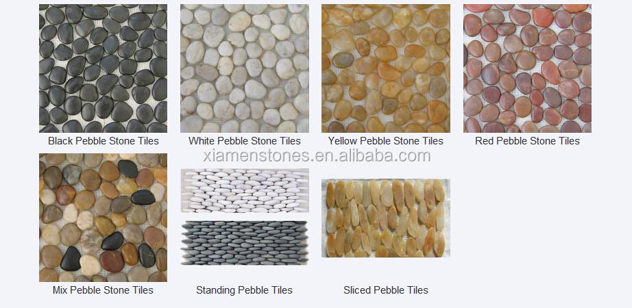 Decorative Garden Flooring Natural Pebble Stone Mosaic Paver