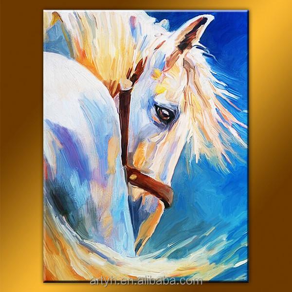 Gros main populaire animaux wall art moderne blanc t te de for Art moderne peinture