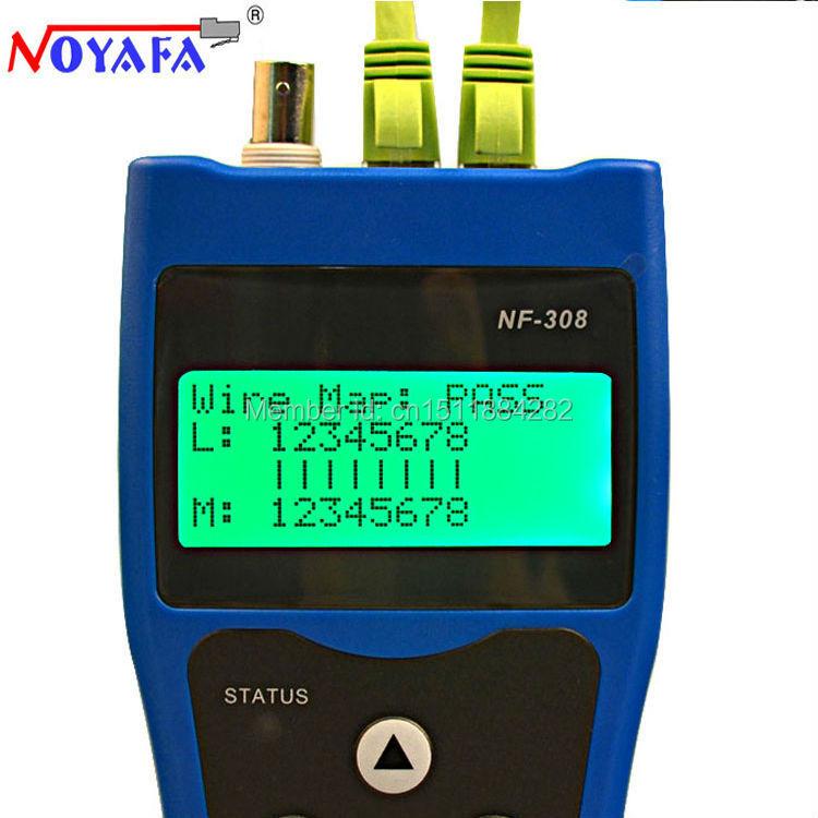 Бесплатная доставка Noyafa NF-308B сети кабельного тестера Lan телефонный трекер тестер кабеля локатор RJ45 BNC RJ11 телефонной линии тестер