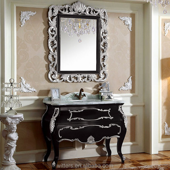 Luxury Unique Antique Black Bathroom Vanity Cabinet Wts257 Buy Bathroom Vanity Cabinet Antique Bathroom Vanity Cabinet Black Bathroom Cabinet