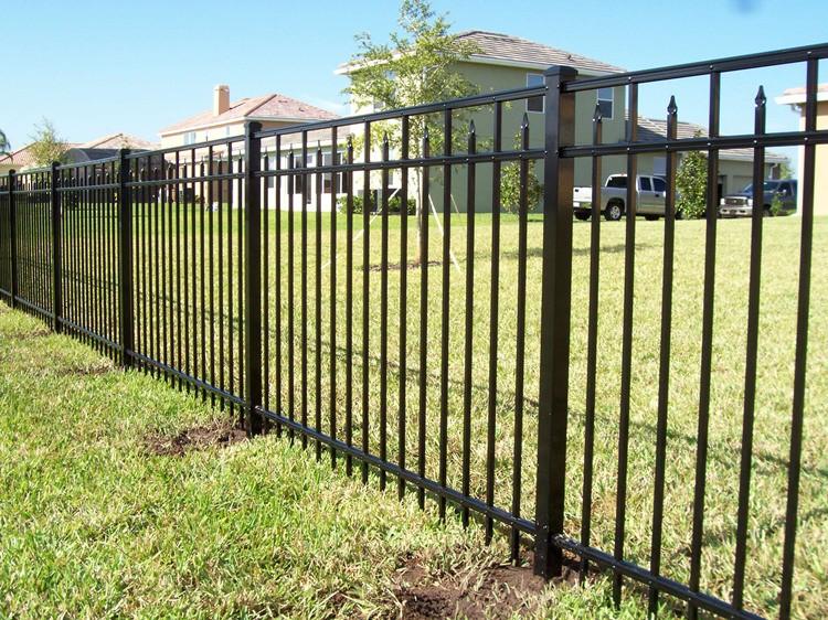 Security Steel Backyard Metal Fence,Metal Fencing Steel Powder ...