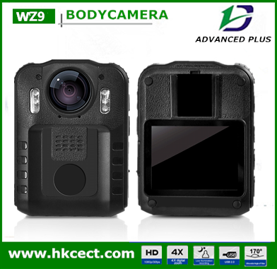 Special design HD 1080P 2 inch screen infrared night vision body worn ir waterproof cctv camera body worn camera