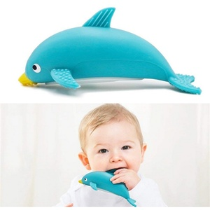 Food grade silicone squeeze squirt baby teether bath toys