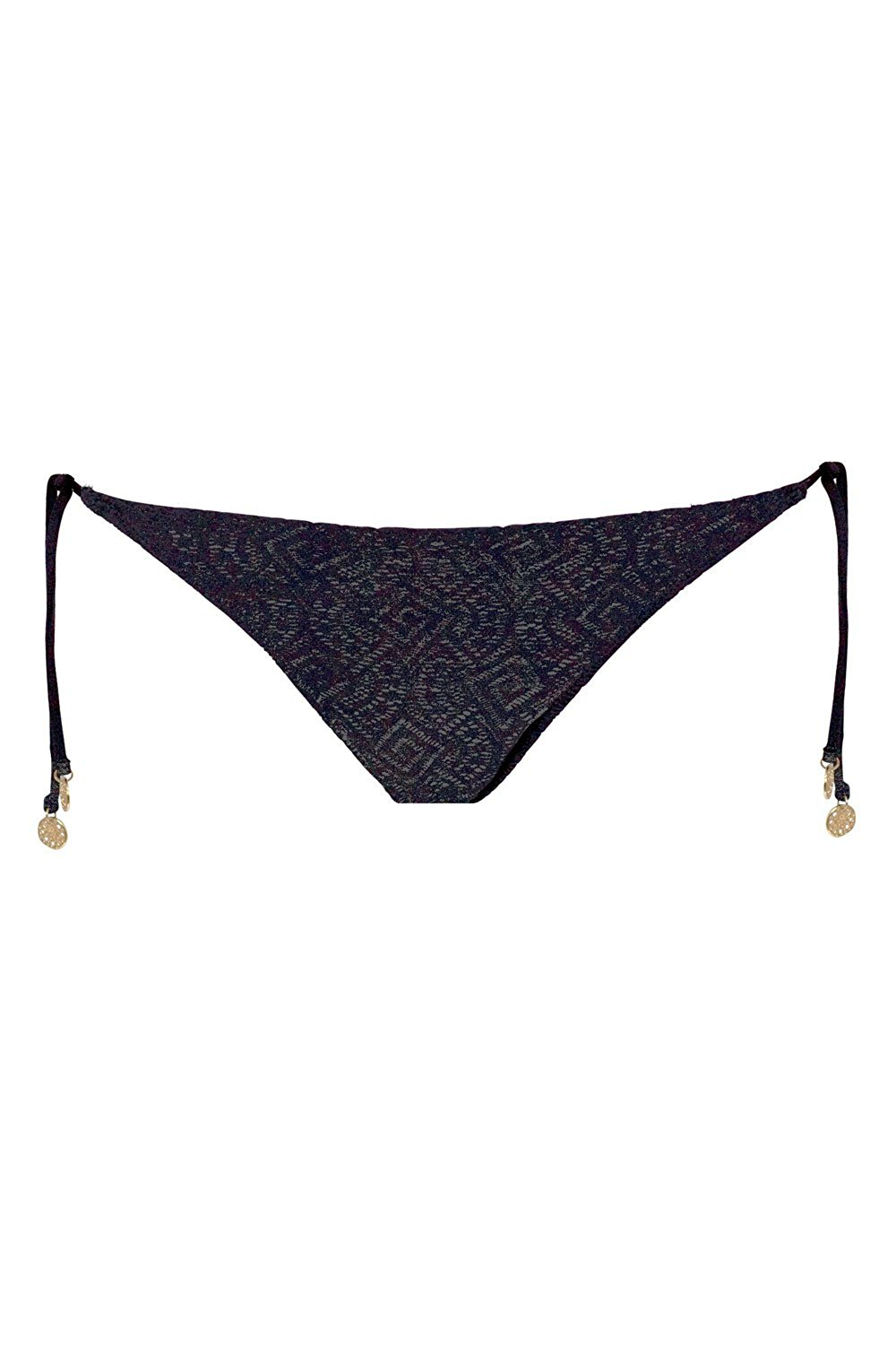 fcdeaf41df5a Get Quotations · Watercult Tie Side Bikini Breifs Modern Lace Black