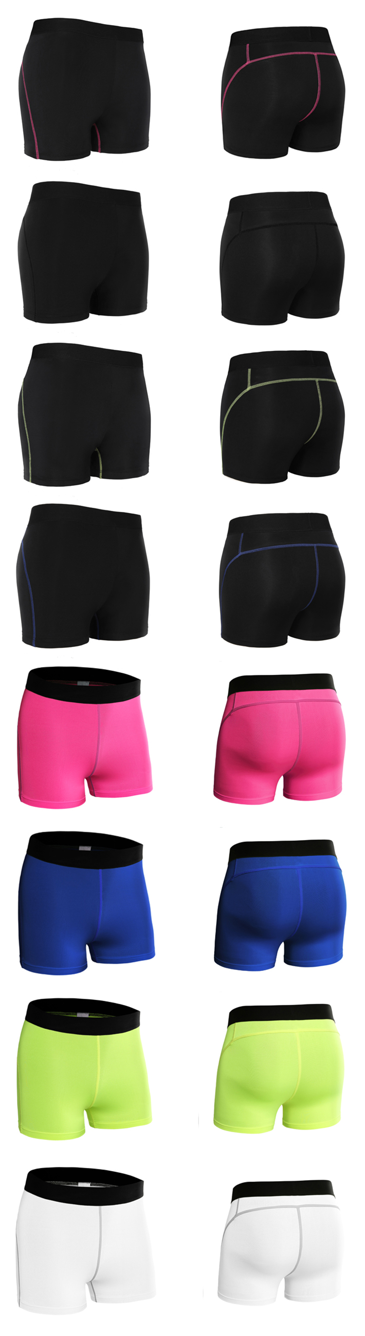 Ladies Sportswear training female stretch tights running gym women sport shorts