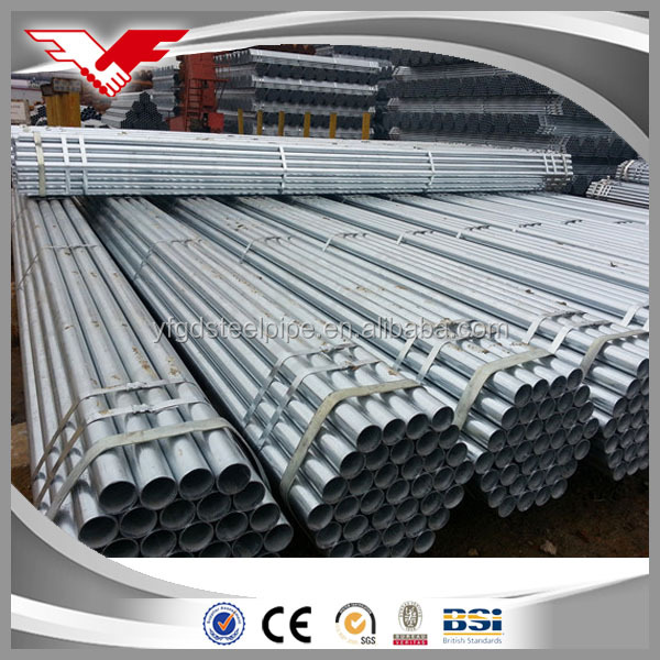 Hot dipped galvanized precise steel pipes 50.8mm diameter