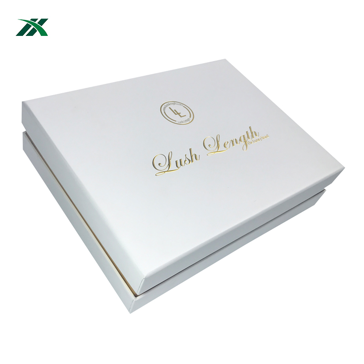 wholesale luxury custom logo weave bundle hair wig extension packaging box
