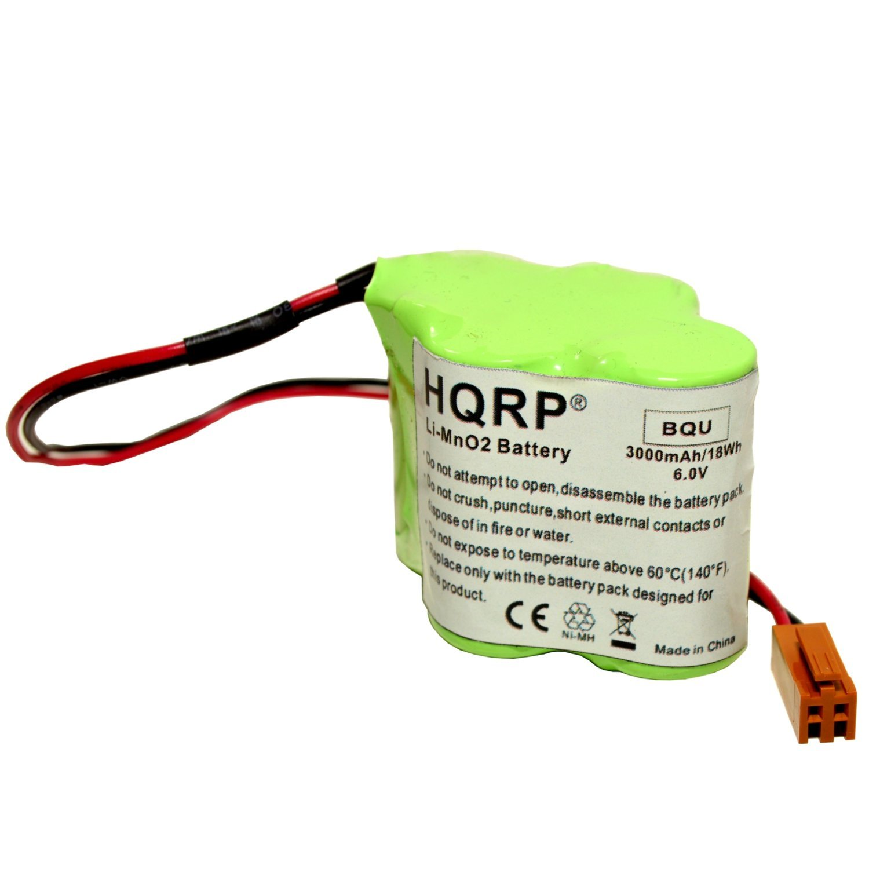 HQRP 6V Battery for FANUC A98L-0031-0025 A98L00310025 A06B-6114-K504 A06B6114K504 CNC PLC + HQRP Coaster