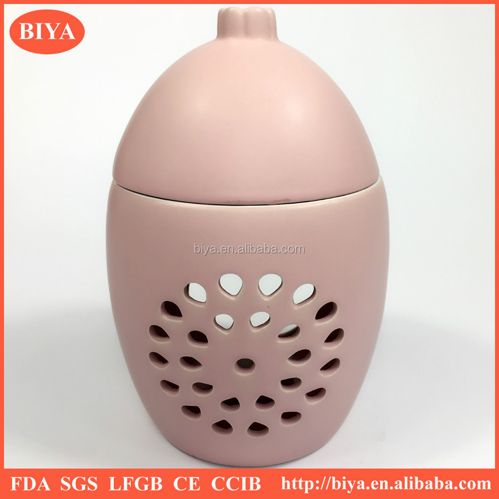 New Handmade hollow carved porcelain incense burner ceramic fragrance lamp colorful