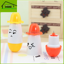 2017 New hat ball pen retractable pill pen children's school supplies cartoon expression creative stationery