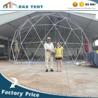 Event dome tent Steel frame white PVC cover outdoor tent event100 person wedding party marquee company anniversary tent for sale