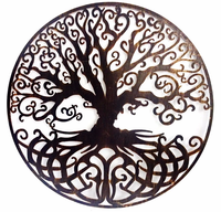 Trees and leaves metal wall art alien for decors
