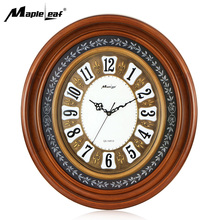 Large Size Round Wooden Framed Wall Clock for Home Decorative