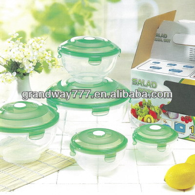 Plastic Food Storage Container For Salad Bowl