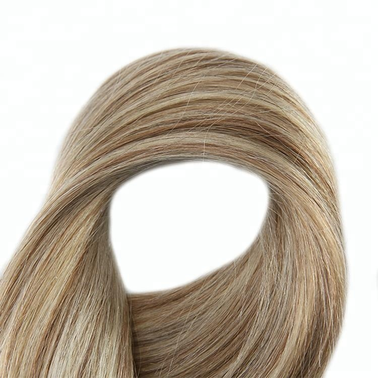 Factory direct supply clear band magic tape hair extensions menselijk haarverlenging