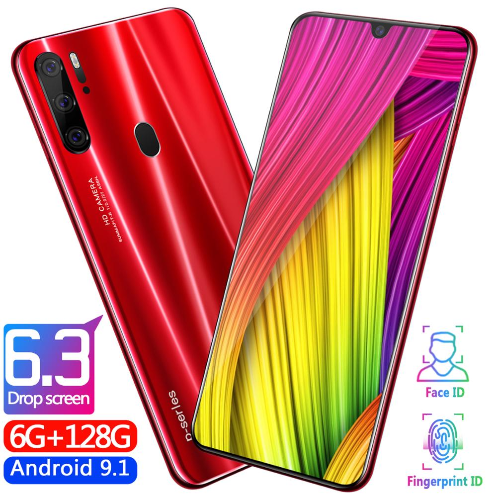 Free postage as P35 design Pro Smartphone 6.3 inch 6GB+128G Octa Core Mobile <strong>Phone</strong> <strong>Android</strong> OS9.1 Cell <strong>Phone</strong>
