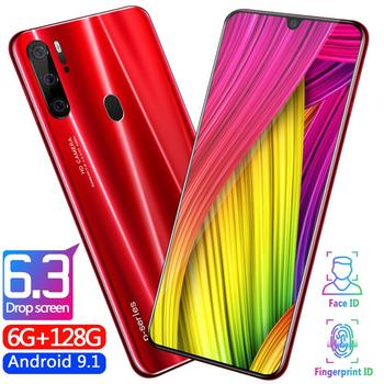 Free postage as P35 design Pro Smartphone 6.3 inch 6GB+128G Octa Core Mobile Phone Android OS9.1 Cell Phone