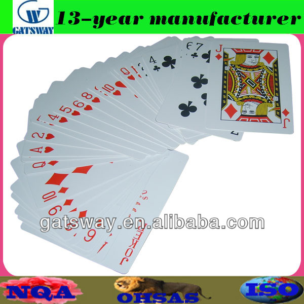 nap plastic playing card with optional finishing