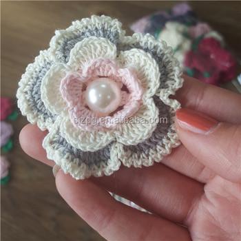 Blumenmuster Spitze Kragen Häkeln Stoff Blume - Buy Häkelstoff Blume ...