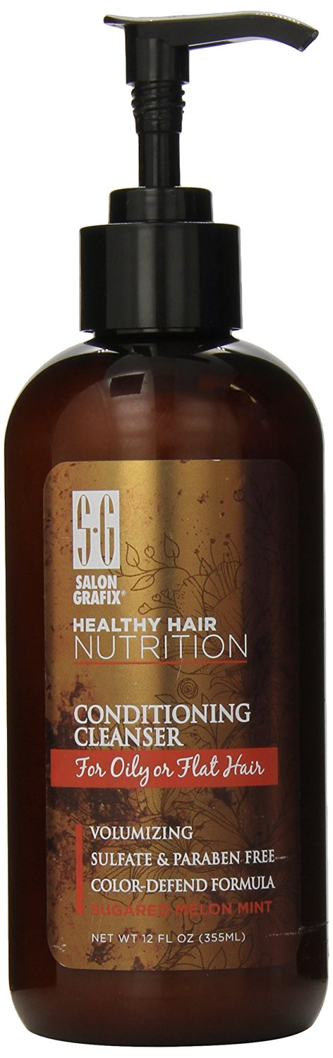 Salon Grafix Healthy Hair Nutrition Conditioning Cleanser for Oily or Flat Hair 12 oz