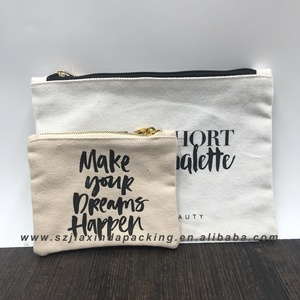 Customs Canvas Zipper Pouch For Cosmetic