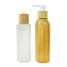 fashion desgin custom made lotion shampoo 60ml 100ml 120ml bamboo glass cream spray bottle