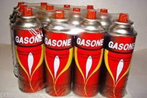 BUTANE FUEL GASONE PORTABLE CAMPING STOVE 8 OZ 12CANS