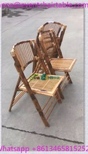 Bamboo Solid Wooden Wedding Rental Folding Chair