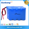 Hot sell SUNB approved 18650 3000mah 14.4v electric motorcycle battery pack