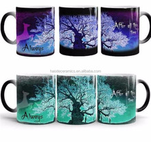 [ZIBO HAODE CERAMICS]Harry Poter design 11 OZ glazed color changing mug magic promotion mug