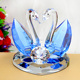 Hot sale clear glass figurines wholesale souvenir wedding favor swan crystal table ornament