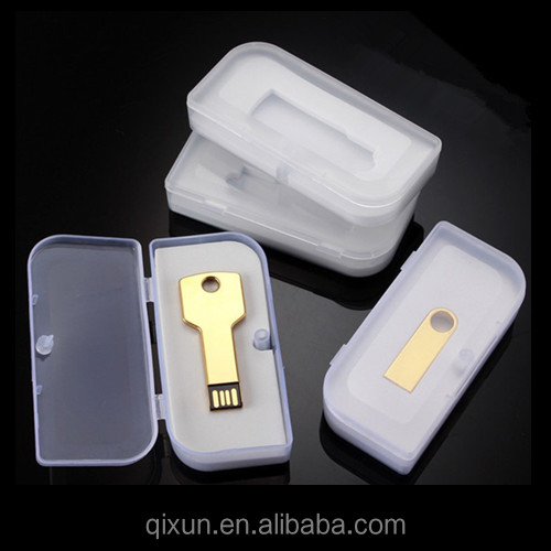 credit card payment accept custom logo printing transparent plastic box for usb flash drive