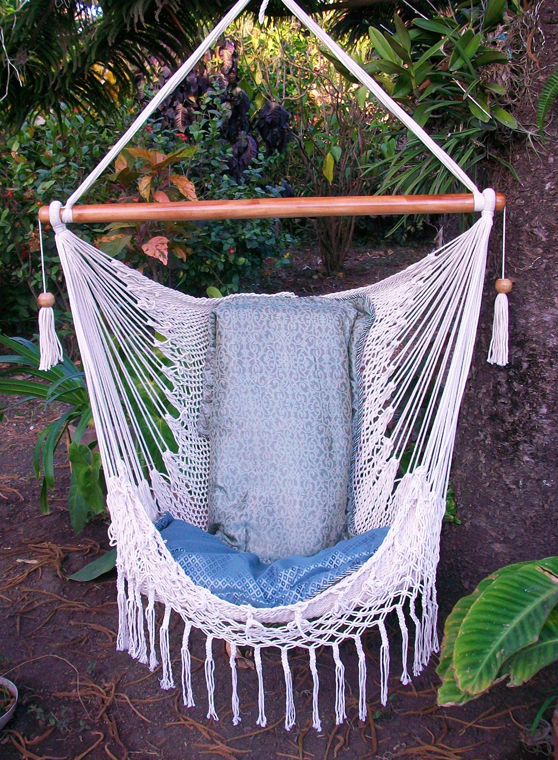Delicieux Get Quotations · Hammock Chair With Macrame Edge Handmade Cotton Beige/  Indoor Outdoor Chair Hammock/ Hanging Chair