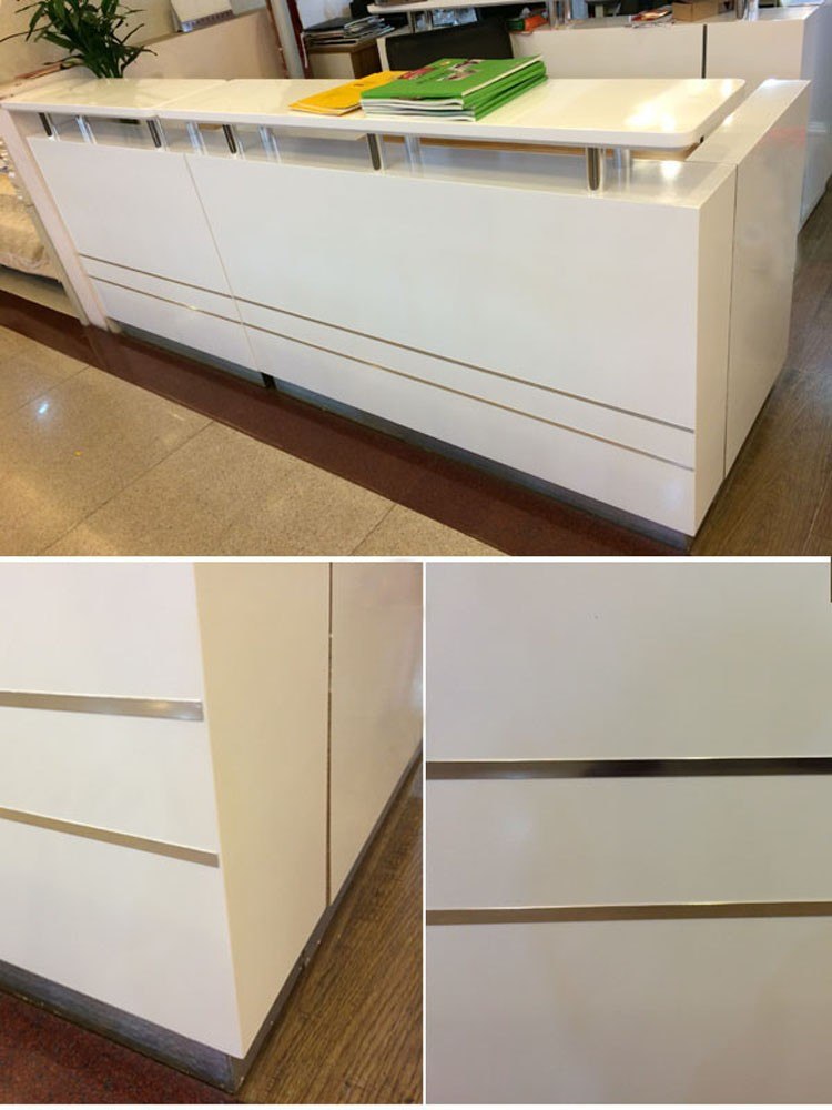 factory new design cheap modern small reception desk counter