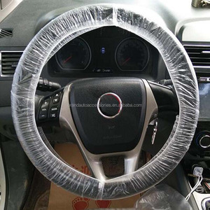 Auto full set disposable plastic car seat covers with steering wheel cover