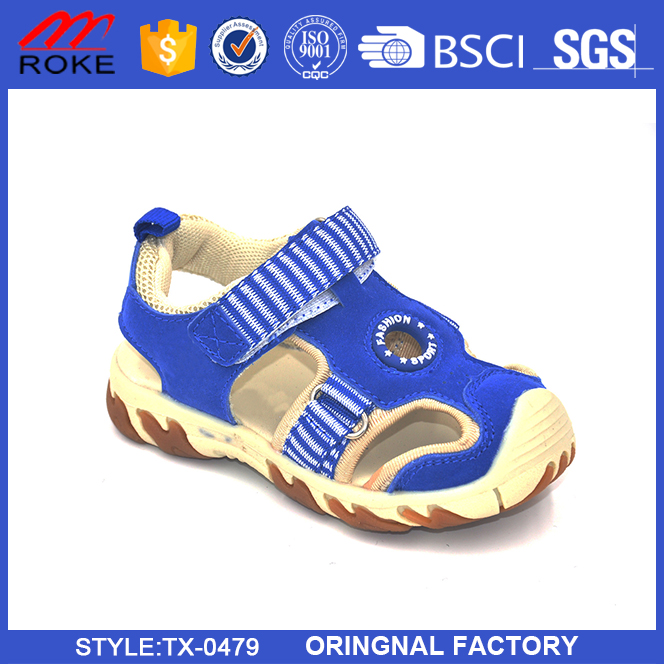 New Arrival Summer Soft Sole Suede Upper Little Kids Sandals Shoes 2017