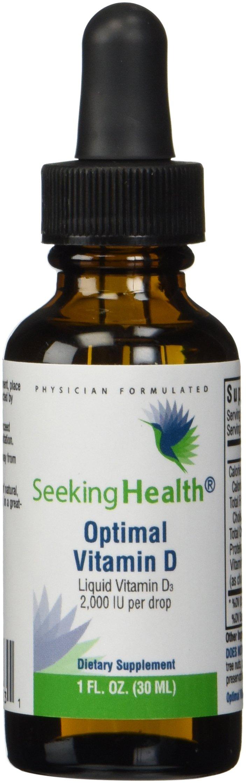 Optimal Vitamin D3 Liquid | 2,000 IU Per Drop | 900 Servings | High Potency | Physician Formulated | Seeking Health by Seeking Health