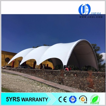 Russia Type Curved Tensile Membrane Structure Dome Tent
