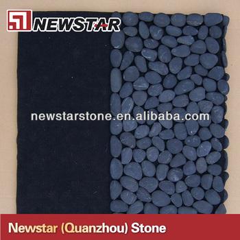 Black Pebble Stone Shower Mat - Buy Stone Shower Mat,Pebble Shower ...