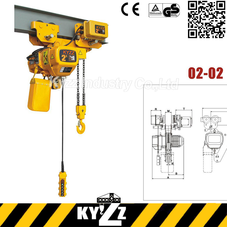 1 ton 5 ton low headroom used chain hoist electric, 500kg electric chain hoist used remote control