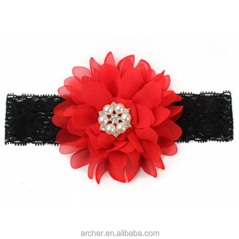 24587d3044df Girl Baby Cute Lace Flower With drill Headband Hair Band Headwear Baby  Girls Toddler Child head