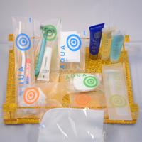 Disposable hygiene travel or hotel bathroom cosmetic kit