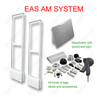 Highlight AM033 Retail security AM 58KHz Acrylic EAS antishoplifting gate/ clothing store eas tagging system/ EAS barrier reader