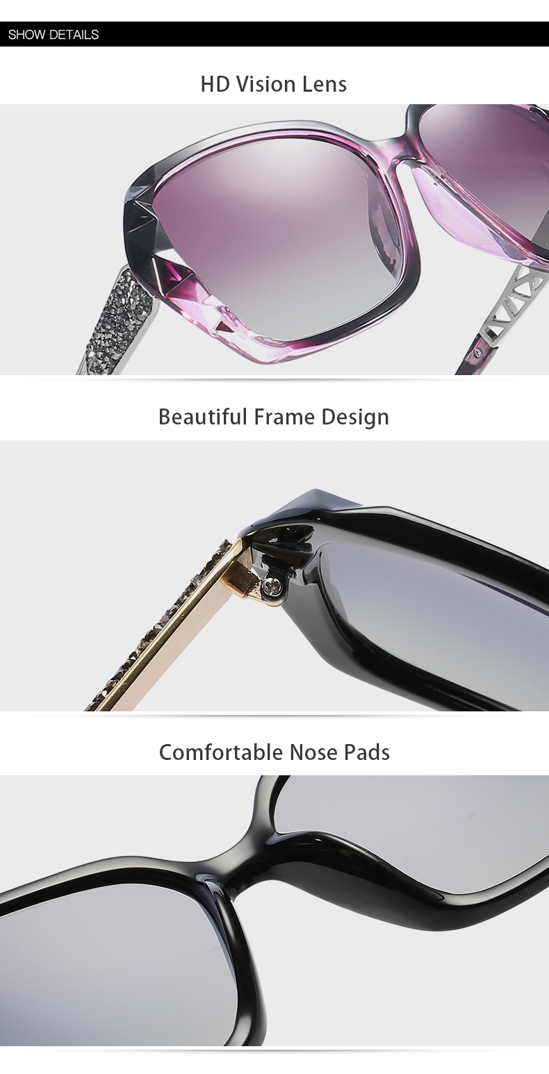 women glass lens polarized sunglasses factory for lady-11
